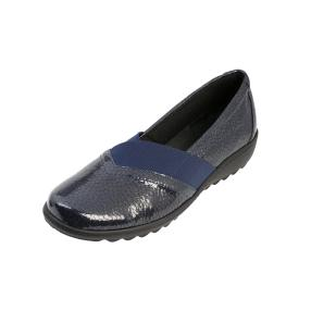 Dr. Feet Damen Nappaleder Slipper navy