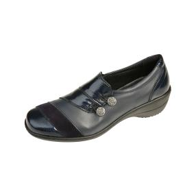 Dr. Feet Damen-Slipper, Nappaleder, navy