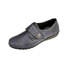 Dr. Feet Damen Nappaleder Slipper, navy glatt