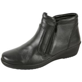 Dr. Feet Damen Nappaleder Slipper, schwarz glatt