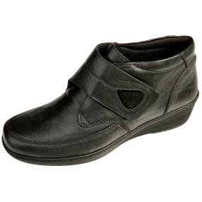 Dr. Feet Damen Nappaleder Stiefelette, schwarz