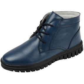 SANITAL LIGHT Damen Leder Stiefeletten, navy