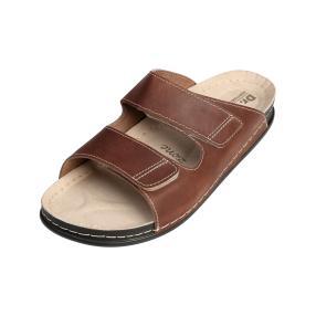 Dr. Feet Leder Herren-Pantoletten braun