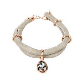 Armband Soraya, grau/rosegold