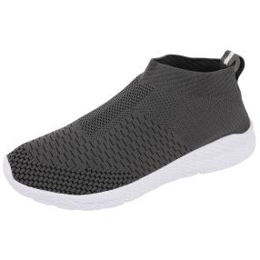 TOPWAY FLEX FOAM Herren Strick Slipper grau