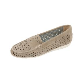 SUPER CRACKS Damen Lederloafer UDAYA, beige