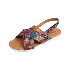 TOPWAY Damen Sandalen Flowers, multicolor