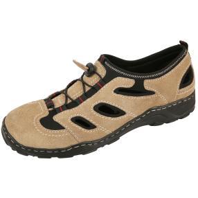 Dr. Feet Herren Leder Slipper, beige