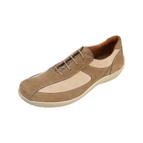 Dr. Feet Damen Nubuck Lederschnürer, sand/beige