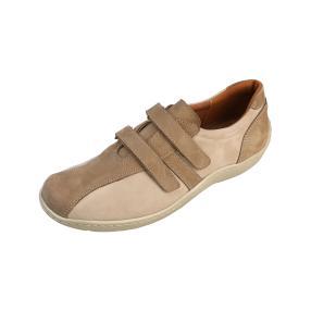 Dr. Feet Damen Nubuck Lederslipper, sand/multi