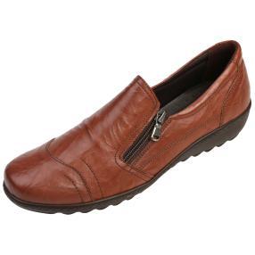 Dr. Feet Damen Nappa Lederslipper, tan crinklet