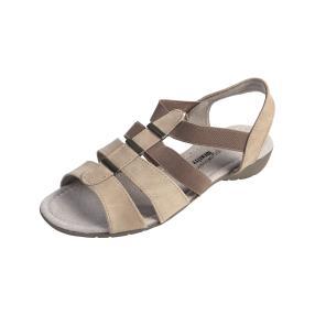 IDENTITY Damen Elastik-Sandalen, beige