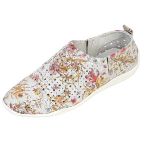 SANITAL LIGHT Damen-Leder-Slipper Fiori