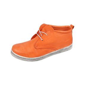 Andrea Conti Damen-Leder-Schnürboots, orange