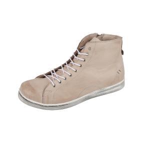 Andrea Conti Damen-Leder-Sneakers high in taupe