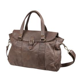 PUNCHBALL Tasche vintage washed, dunkles taupe