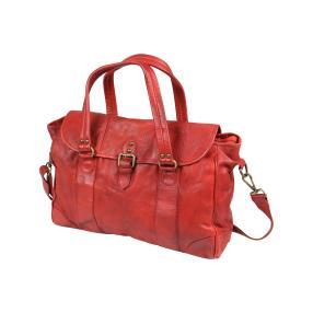 PUNCHBALL Tasche vintage washed, rot glänzend