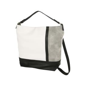 Damen Schulterbeutel, weiß/grau/schwarz
