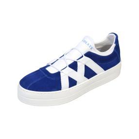 ShoeCOLATE Damen-Leder-Slipper, blau