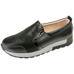 TOPWAY Comfort Damen-Slipper, schwarz