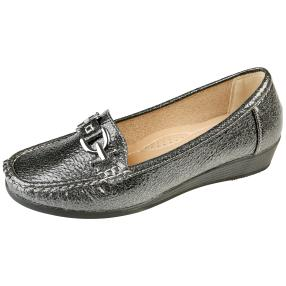 TOPWAY Damen-Comfort Slipper, pewter