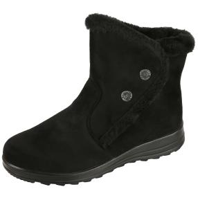 NORWAY ORIGINALS Damen-Fell-Stiefeletten, schwarz