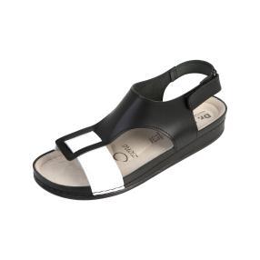 Dr. Feet Damen-Leder-Sandaletten, schwarz
