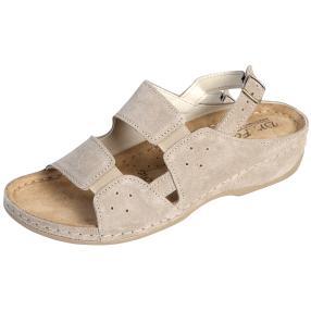 Dr. Feet Damen-Leder-Sandalen, beige