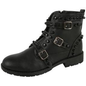 TOPWAY Technology Damen-Stiefeletten, schwarz