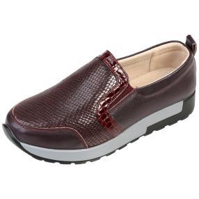 TOPWAY Comfort Damen-Lederslipper, burgundy