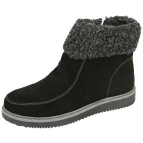 SANITAL LIGHT Damen-Leder-Stiefeletten, schwarz