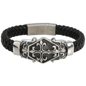 Spirit of Berlin Lederarmband, schwarz