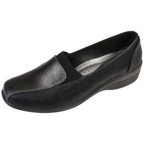 IDENTITY Damen-Elastik-Slipper, schwarz