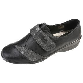 IDENTITY Damen-Klett-Slipper, schwarz