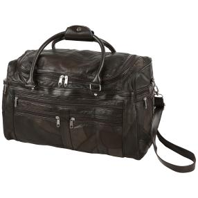 Reisetasche Patch-Leder, braun