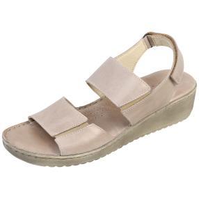 Andrea Conti Damen-Leder-Sandaletten, taupe
