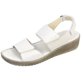 Andrea Conti Damen-Leder Sandaletten, weiß
