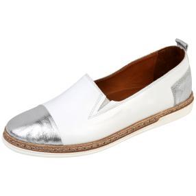 Andrea Conti Damen-Leder-Slipper, weiß