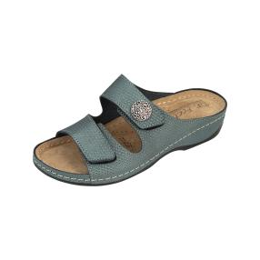 Dr. Feet Leder Damen-Pantoletten, grün