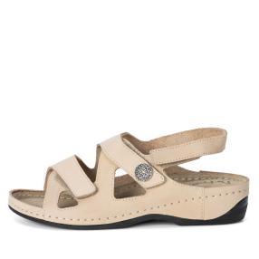 Dr. Feet Leder Damen-Sandaletten, oliv