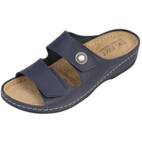 Dr. Feet Leder Damen-Pantoletten, navy