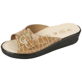 SANITAL LIGHT Damen-Leder-Pantolette, beige