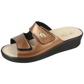 SANITAL LIGHT Damen-Leder-Pantolette, bronze
