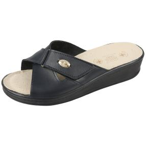 SANITAL LIGHT Damen-Leder-Pantolette, navy