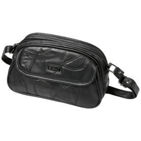STEFANO Patch Tasche, schwarz