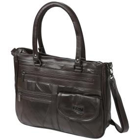 STEFANO Patch Tasche, dunkelbraun