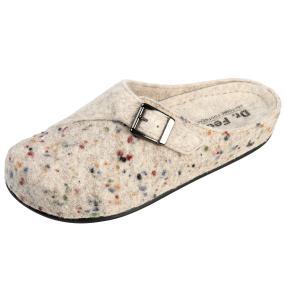 Dr. Feet Damen-Hausschuhe, offwhite