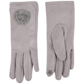 Lilli B Handschuhe geschmückt, grau