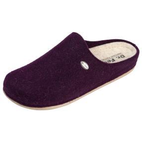 Dr. Feet Damen-Hausschuhe, violett