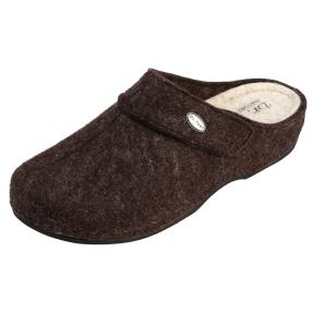 Dr. Feet Hausschuhe, dunkelbraun